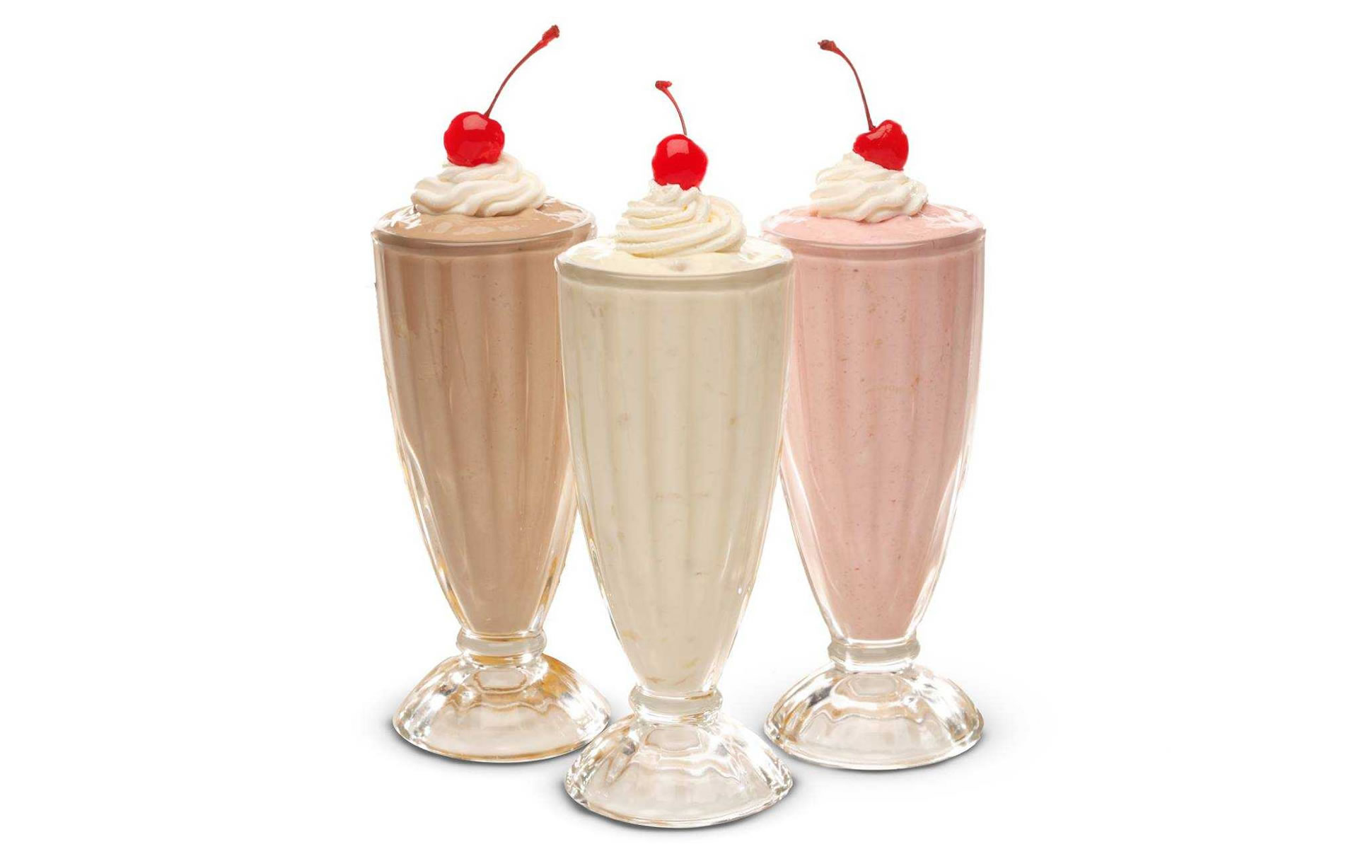 Milk Shakes - Vanilla, Strawberry & Chocolate